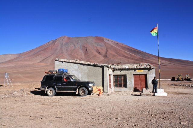 Migrations office on the Bolivia-Chile border