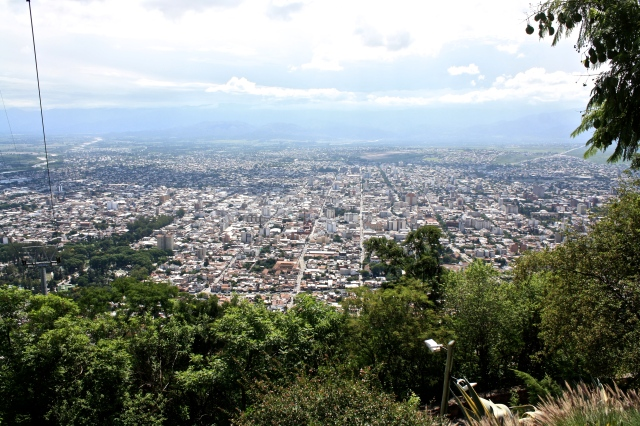 Looking down on Salta from the top of the teleférico.