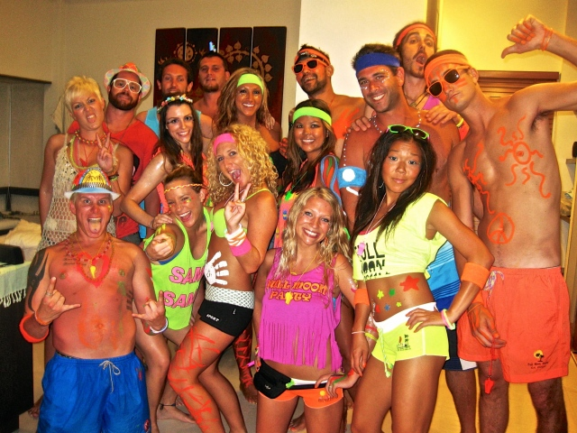 My first full moon party.  Ridiculous isn't a strong enough word.