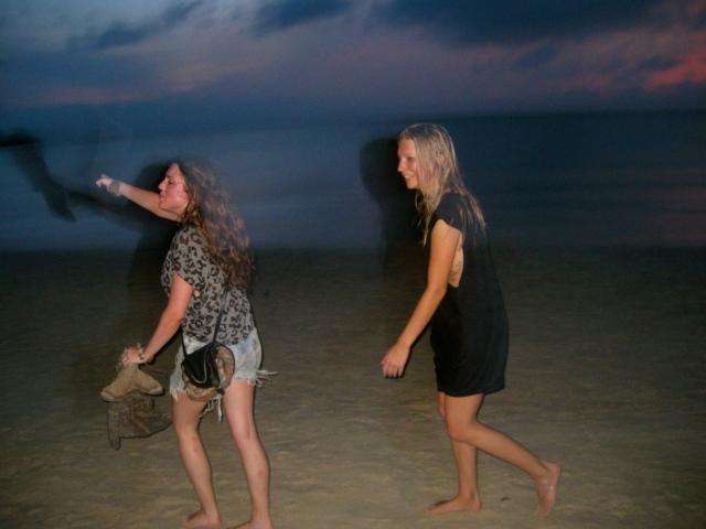 5am beach scene