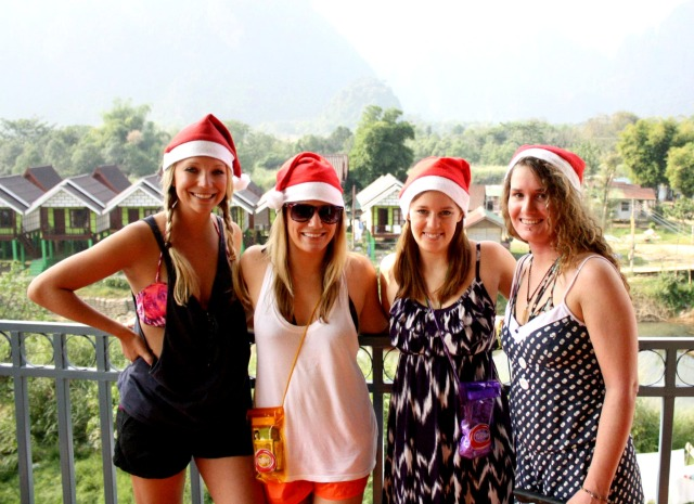 A backpacker's dream Christmas in Vang Vieng.