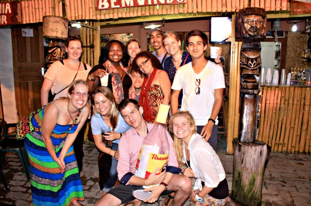 A night out in Pacaraima, Brazil with fellow volunteers.